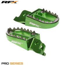 New RFX Green Shark Teeth Wide Pegs Footpegs KXF 250 06-16 KXF 450 07-16
